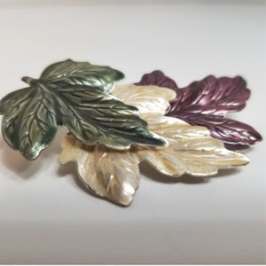 VTG Multi Color Maple Leaves Brooch